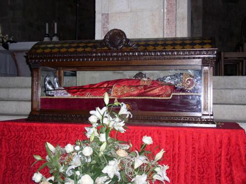 Urna con las reliquias del Santo. Termoli, Italia.