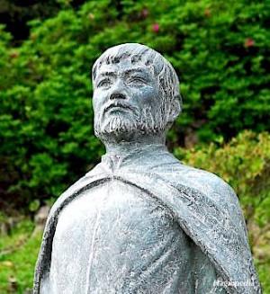 Detalle de una escultura del Beato.