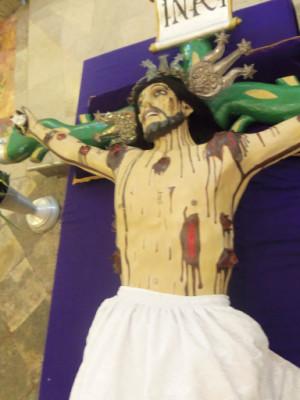 Cristo Vivo, en la Parroquia de San Andrés en la Misas Rogativas.