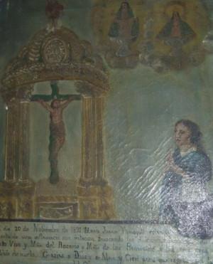 Exvoto de Juana María Iztmoyotl.