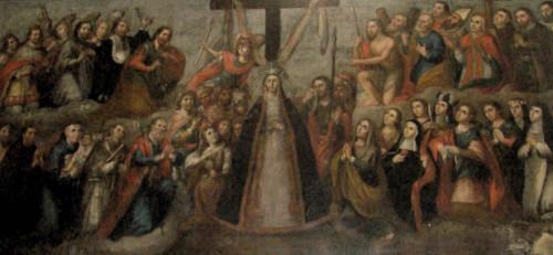 La Virgen de la Soledad y Santos.