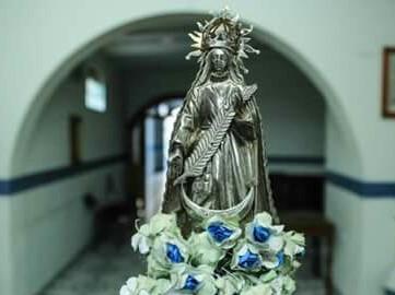 Cetro del Síndigo con la imagen patronal.