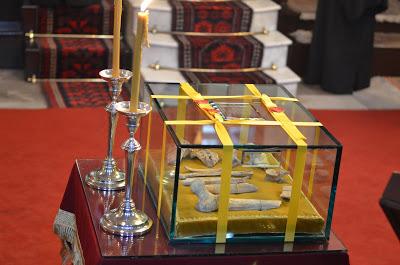 Urna con reliquias del Santo. Patriarcado Ecuménico de Constantinopla, El Fanar, Estambul (Turquía).