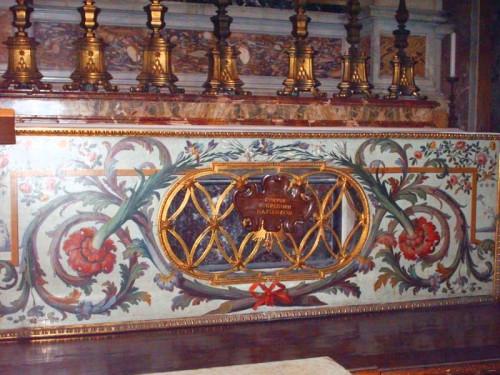 Altar-sepulcro del Santo. Basílica de San Pedro del Vaticano, Roma (Italia).
