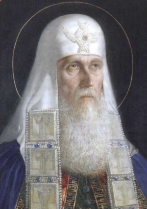 Retrato-icono naturalista del Santo.