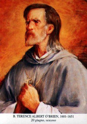 Estampa del Beato, perteneciente a la serie de retratos de Santos dominicos.