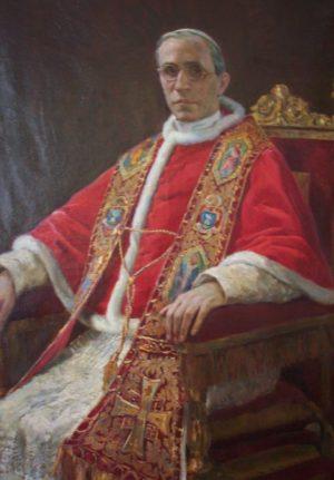 Lienzo-retrato del Papa Pío XII.