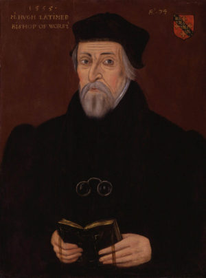 Óleo retrato de Hugh Latimer.