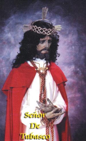 Estampa de los años 90 con el Señor de Tabasco.