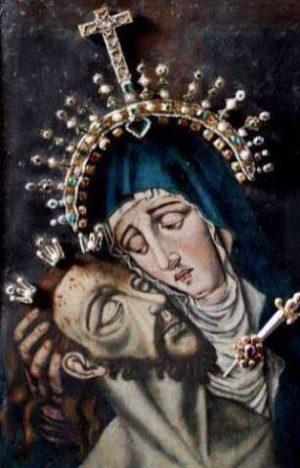Nuestra Señora del Topo venerada en la Catedral de Bogotá, Colombia. Foto cortesía de Luis Bernardo Velez.