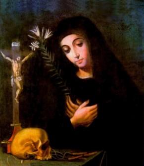 Santa Mariana de Jesús, óleo de Gustavo Amigó. Siglo XVIII.