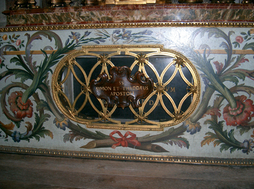 Sepulcro de los Santos Simón y Judas Tadeo. Basílica de San Pedro del Vaticano, Roma (Italia).