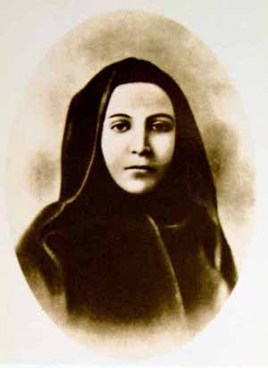 Retrato de la Beata, realizado tras su exhumación y tomando como modelo su sudario y cuerpo incorrupto.