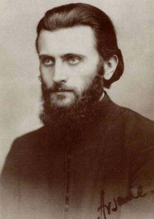 Fotografía en sepia del Padre Arsenio Boca.