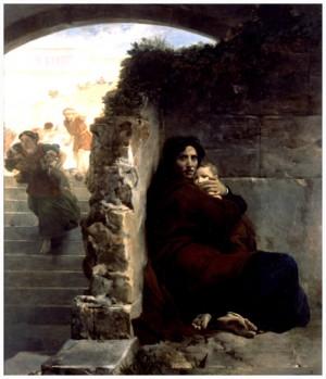Matanza de los Inocentes, lienzo de Léon Cogniet (1824). Museo de Bellas Artes de Rennes, Francia.