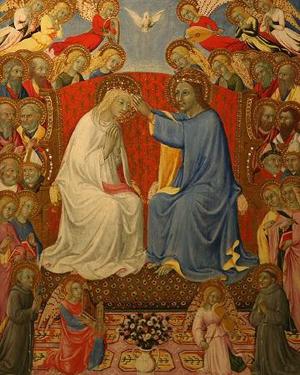 Coronación de la Santísima Virgen. Tabla gótica de Sano di Pietro (s.XIV).