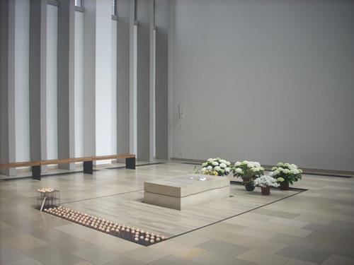 Sepulcro de la Beata en la iglesia de la Santa Cruz de Dülmen, Alemania.