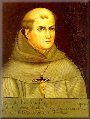 Reproducción del original de un retrato del Santo que le localiza en el Convento de Santa Cruz de Querétaro.