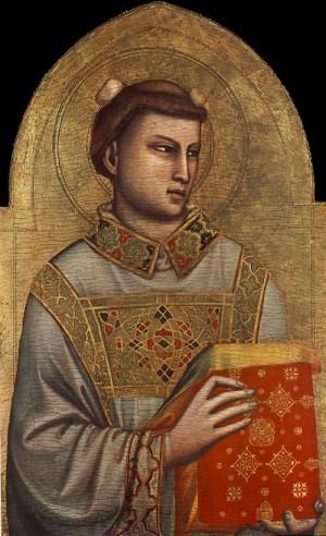Tabla gótica del Santo, obra de Giotto di Bondone (s.XIV).