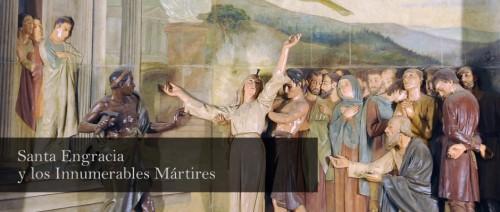 Detalle del martirio de la Santa. basílica de Santa Engracia de Zaragoza, España. Fuente: www.basilicasantaengracia.es