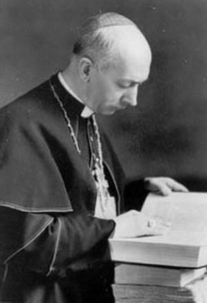 Beato Ildefonso Schuster, OSB. Abad de San Pablo Extramuros en Roma y luego Cardenal Arzobispo de Milán durante la II Guerra Mundial.