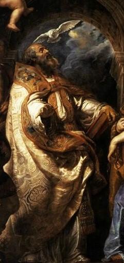 Éxtasis de San Gregorio I Magno, por Peter Paul Rubens.
