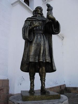 Tito Yupanqui, escultor de la imagen de la Virgen de Copacabana.