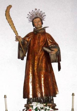 Imagen del Santo en la iglesia de Nuestra Señora de Lekeitio, Vizcaya (España).