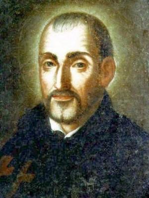 Lienzo del Santo, obra de un autor anónimo italiano. S.XVII.