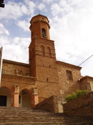 Vista de la iglesia parroquial de Tabuenca, patria de los Beatos Tomás y José María Cuartero Gascón.