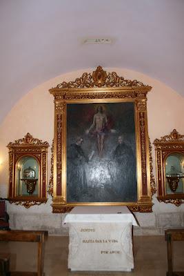 Vista de la Cripta de los Mártires en la Catedral de Santa María de Mediavilla, Teruel (España), donde está sepultado el Beato Anselmo Polanco.