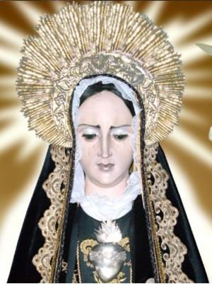 Detalle del rostro de la imagen, el estilo de la talla española es propio del siglo XVII.(Cortesíade Ángel Rodríguez).