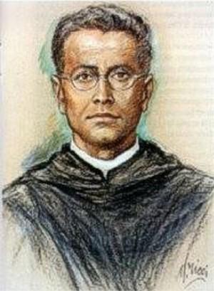 Imagen que se usó para la beatificación del padre Nieves.