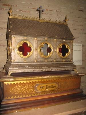 Relicario de las Santas conservado en Tolosa, Francia.
