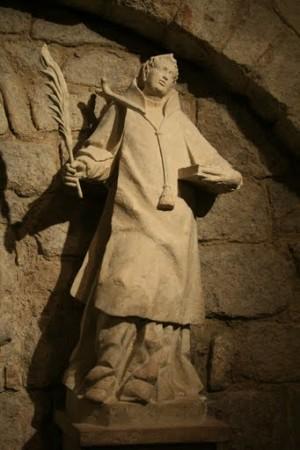 Imagen del Santo venerada en su cripta de Palencia, España.