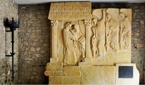 Monumento a San Beato. Monasterio de Santo Toribio de Liébana, Cantabria (España).