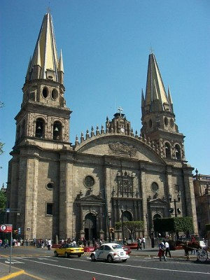 Vista de la fachada de la catedral de Guadalajara (México), sede del Siervo de Dios Francisco Orozco.