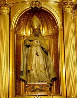 Imagen de San Jeroteo (Hieroteo) venerada en la catedral de Segovia (España).