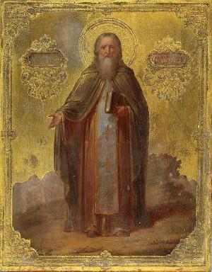 Icono ortodoxo ruso de San Juan Casiano, datado en 1800.