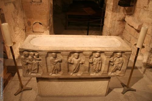 Sarcófago de San Juan Casiano. Abadía de San Víctor, Marsella (Francia). Fotografía: Dominique Pipet.