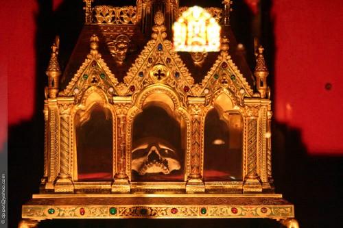 Urna que contiene parte del cráneo de San Juan Casiano. Abadía de San Víctor, Marsella (Francia). Fotografía: Dominique Pipet.