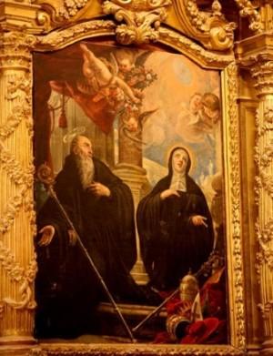 Lienzo de los Santos, obra de José Ximénez Donoso. Antiguo convento de la Encarnación de Corella, España.