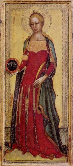 Tabla gótica de la Santa, obra de Andrea di Bonaiuto (1365).