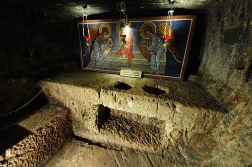 Fotografía de la Prisión de Jesucristo en Jerusalén (Israel), donde dice la tradición que estuvo encadenado.