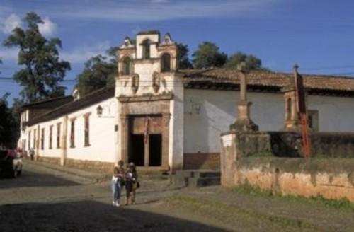 Antiguo colegio-seminario de San Nicolás en Pátzcuaro, México.