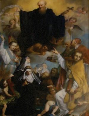 La gloria de San Juan Gualberto, Sacristía de la abadía de Ripoli, entre los santos de abajo aparece el beato Orlando. Esta pintura y el fresco de Neri di Bacci son las únicas representaciones del santo conocidas fuera de la orden.