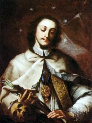 Óleo del Santo, anónimo florentino del siglo XVII.