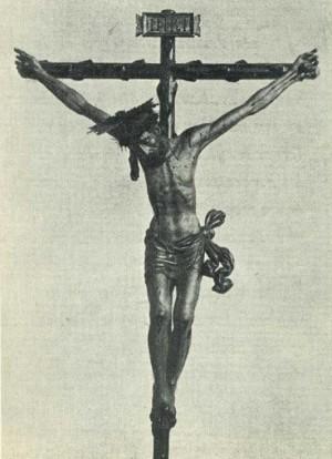 Antigua foto del Cristo de la Penitencia. Colegio Imperial de Niños Huérfanos de San Vicente Ferrer, Valencia (España).