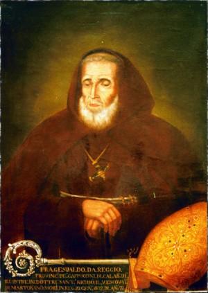 Retrato post-mortem del Venerable que reproduce fidedignamente su rostro.