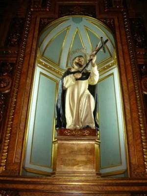 Imagen del Santo en su capilla de la Colegiata de Xàtiva, Valencia (España).